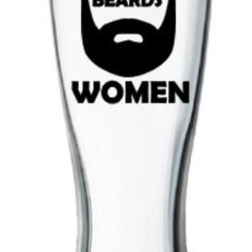 People With Out Beards Beer Glass/Pilsner, Beard Beer Mug, Funny Pint Glass