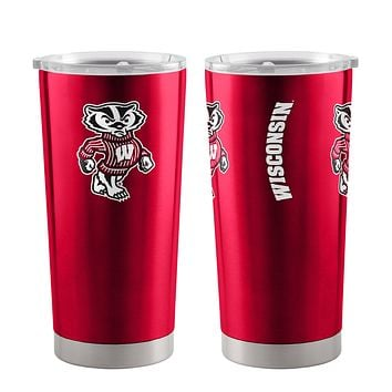 Wisconsin Badgers Travel Tumbler 20oz Ultra Red