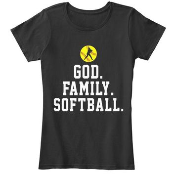 God Family Softball Funny Shirt