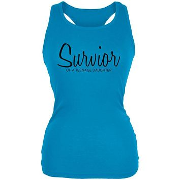 Mother's Day Survivor Of A Teenage Daughter Juniors Soft Tank Top
