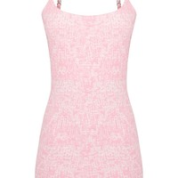 Pastel Pink Boucle Bodycon Dress