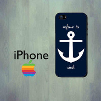 Nautical White Anchor iPhone Case - iPhone 4 Case or iPhone 5 Case
