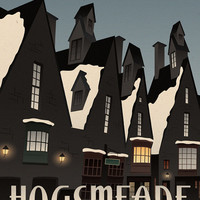 Visit Hogsmeade Travel Poster, Harry Potter Print, Harry Potter Wall Art, Modern Home Decor, Wall Art, Art Deco