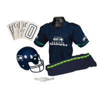Seattle Seahawks Youth NFL Deluxe Helmet and Uniform Set (Medium)