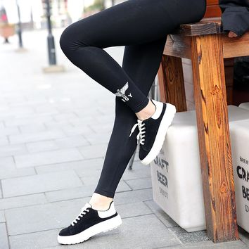 """BOY"" Women Casual Fashion All-match Letter Cotton Leggings Trousers Sweatpants"