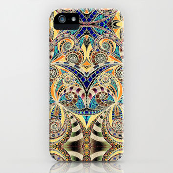 Drawing floral abstract background B9 iPhone & iPod Case by MedusArt