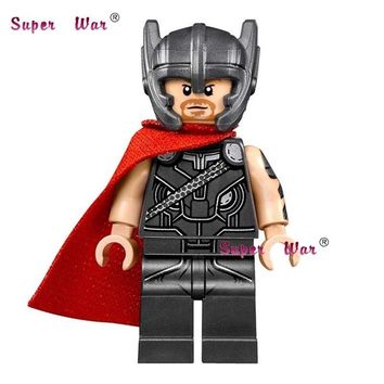 Star Wars Force Episode 1 2 3 4 5 20pcs  super hero  model kits Marvel Thor with hammer building blocks bricks classic learning education baby toy AT_72_6