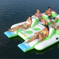 "New Giant Inflatable Floating Island 6 Person Raft Pool Lake Float 15'-8""x 9'-4':Amazon:Sports & Outdoors"