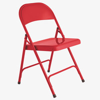 MACADAM REDS Metal Red metal folding chair - HabitatUK