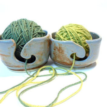 Blue Shino Double Yarn Bowl