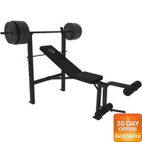 CAP Barbell Deluxe Bench w/ 100-Pound Weight Set - Walmart.com