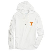 University of Tennessee Long Sleeve Gameday Hoodie Tee in White by Southern Tide