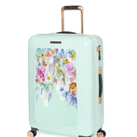 Medium sugar sweet floral suitcase - Pale Green | Bags | Ted Baker ROW