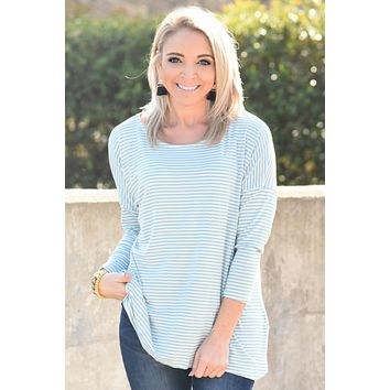 Make Your Choice Stripe Top - Blue