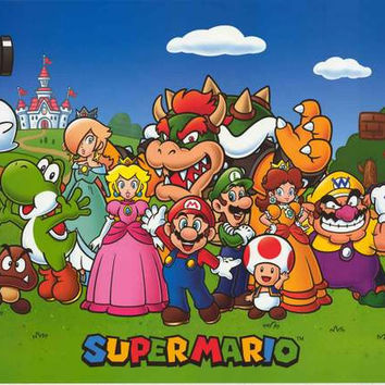 Super Mario Animated Cast Poster 24x36