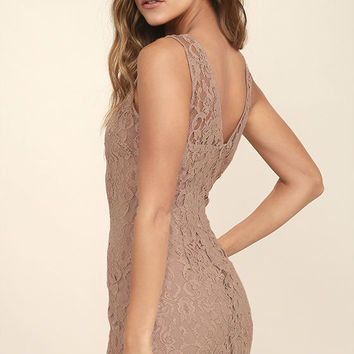 BB Dakota Thessaly Mauve Lace Dress