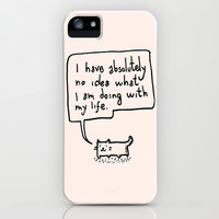 Little Cat iPhone & iPod Case by Kitten Rain