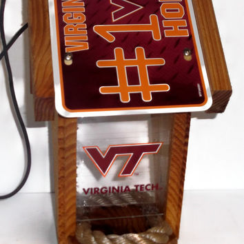 Virginia Tech #1 Fan Two-Sided Cedar Bird Feeder