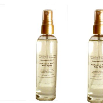 A Six Pack of Men's Recharge Body Sprays