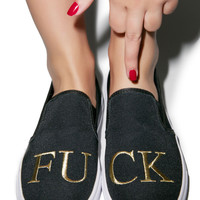 Y.R.U. Chill FU CK Slip-On Sneaker Black