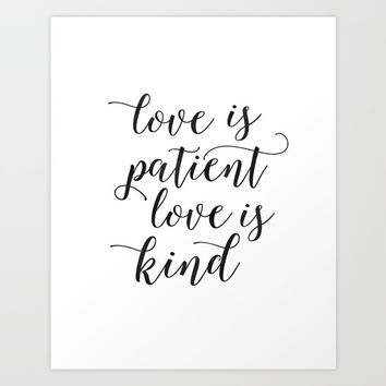 LOVE FAMILY SIGN, Love Is Patient Love Is Kind,Love Quote,Love Art,Family Quote,Living Room Decor,Ho Art Print by Printable Aleks