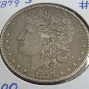 1879s Silver Dollar Antique Coins 1879 Morgan Dollar 1879 s USA Silver Coins Antique US Coin Silver US Currency Rare Coin