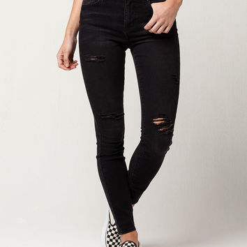 RSQ Manhattan High Rise Womens Ripped Skinny Jeans