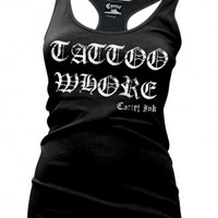 Cartel Ink Tattoo Whore Beater - Tanks - Women's Online Store