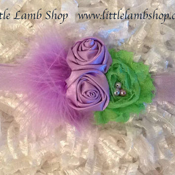 Tinkerbell Inspired Headband - All ages - Newborn Photography prop - Vintage couture headband - Halloween Costume Headpiece