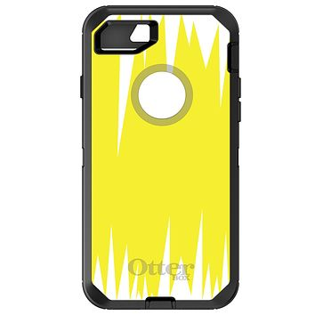 DistinctInk™ OtterBox Defender Series Case for Apple iPhone / Samsung Galaxy / Google Pixel - Yellow White Spikes