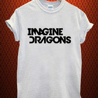 imagine dragon logo Music tee Ash Grey t Shirt Men and Women T Shirt more size available