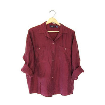 Shop Silk Button Up Shirt on Wanelo