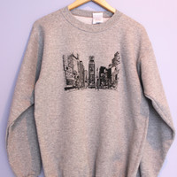 New York Times Square Gray Crewneck Sweatshirt