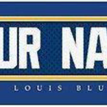 Hockey-NHL St. Louis Blues Jersey Stitch Print Personalized Framed