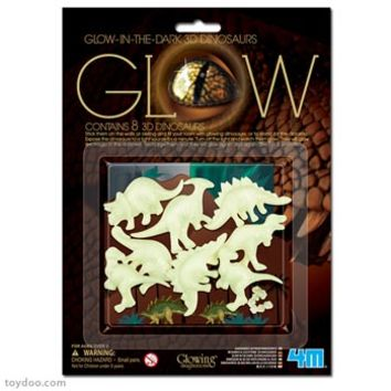 4M Glowing Imaginations Glow 3D Dinosaurs - Toysmith - Pack of 6 sets