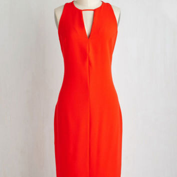 Long Sleeveless Sheath Rendezvous in Rome Dress