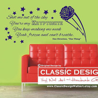 Vinyl Wall Decal - One Direction, You're My KRYPTONITE, Yeah FROZEN and Can't Breathe, One Thing lyrics
