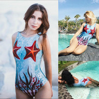 Swimwear Hot Sale Sea Print Mat [11676759439]