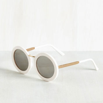 Mod My Rounds Sunglasses in White | Mod Retro Vintage Sunglasses | ModCloth.com
