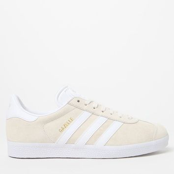 adidas Women's Cream and White Gazelle Sneakers at PacSun.com