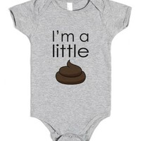 I'm A Little Sh*t - Baby Onsie-Unisex Heather Grey Baby Onesuit 00