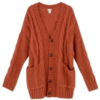 H&M Orange Chunky Cable Knit Cardigan, 39.99 In Stores Only