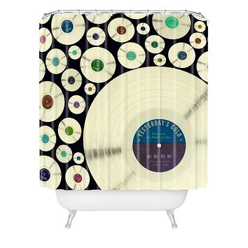 Belle13 Evergreen Music Shower Curtain
