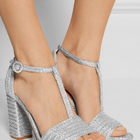 Charlotte Olympia - Jane metallic raffia sandals