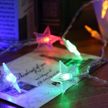 Star Shaped 5M 40 LED String Light Battery Powered Christmas LED Fairy String Lamp Wedding Party Outdoor Indoor Room Decor