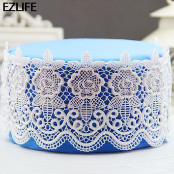 Silicone Cake Tools Lace Mats Mold Silicone Lace Mat Fondant Cake Decorating Tools Wedding Flower Embossing Bakery Tools KT0782