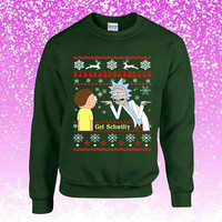 Rick And Morty Get Schwifty 2 Ugly Christmas Sweater Sweatshirt Unisex Adults