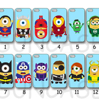 Various Minions ,iPhone 4 case, iphone 5 case, ipod 4 case, ipod 5 case, samsung galaxy S3,galaxy S4,  samsung note 2, Blackberry z10, q10