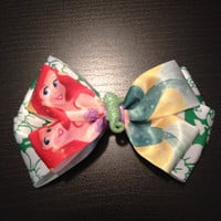 little mermaid hair bow