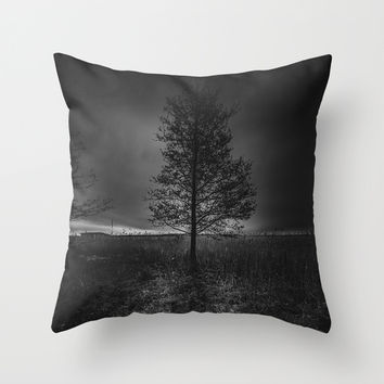 On the wrong side of the lake 3 Throw Pillow by HappyMelvin